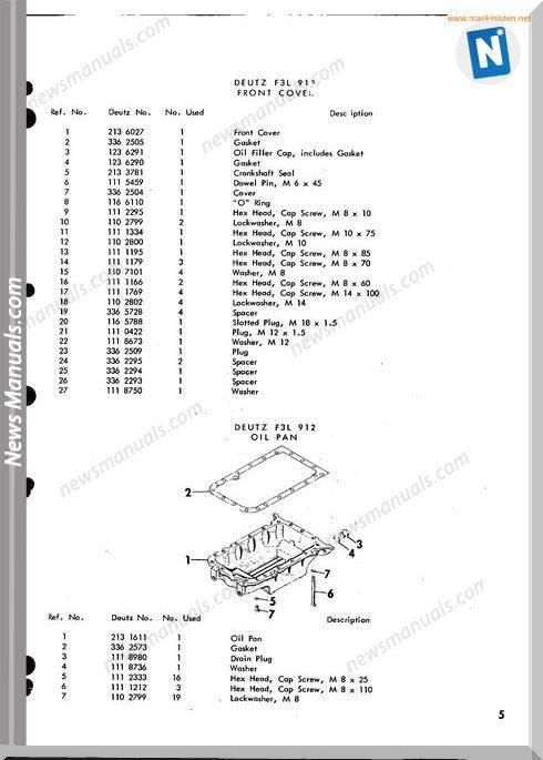 new holland deutz f3l912 engine sperry parts sec wat