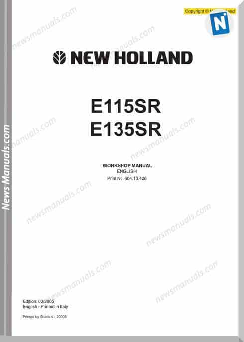 New Holland E115Sr, E135Sr Service Manual