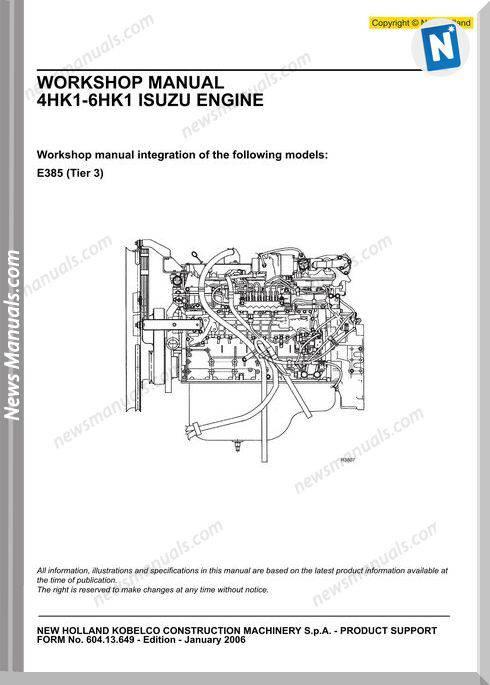 New Holland Engine 4hk1