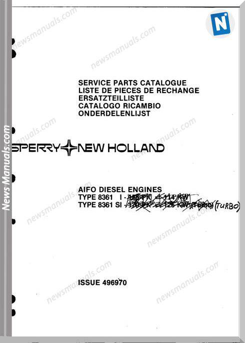 New Holland Engine 8361 2 Part Catalogue