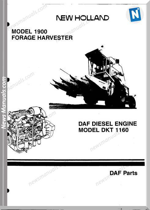 New Holland Engine Daf-Dkt 1160 Part Catalogue
