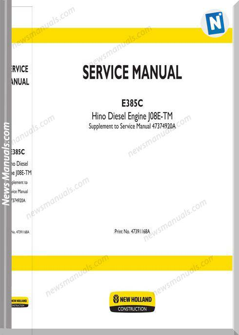 New Holland Engine J08E-Tm En Service Manual