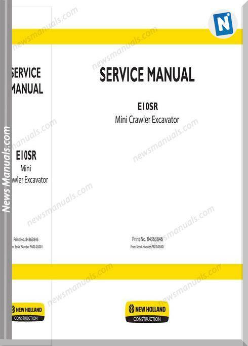 New Holland Excavator E10Sr En Service Manual