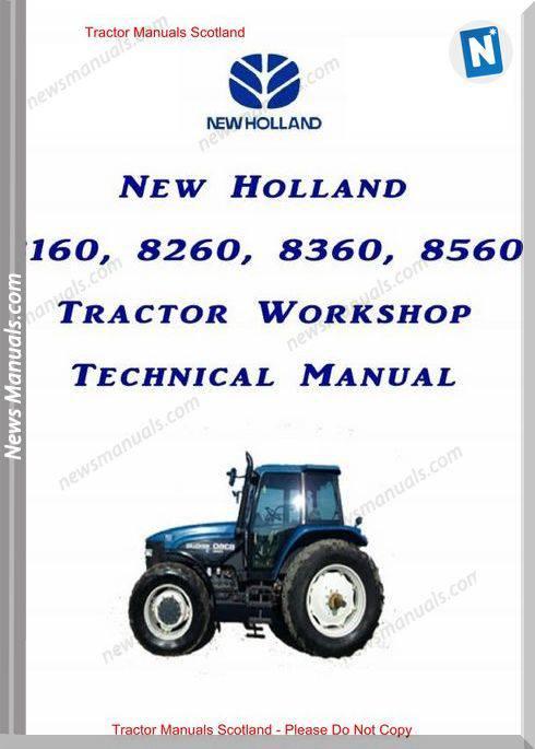 New Holland Fiat 160-8160,8260,8360,8560 Workshop Manual