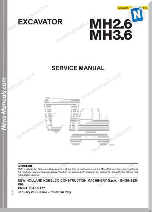 New Holland Mh 2 6 3 6 Service Manual Machines