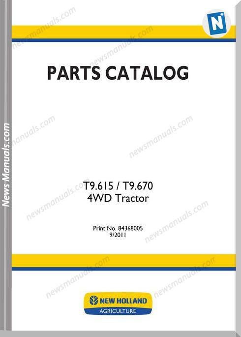 New Holland Tractor T9 Series Parts Manuals