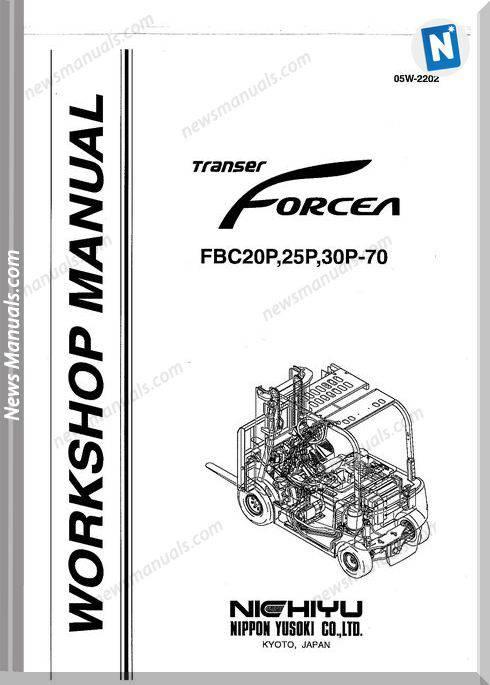 Nichiyu Forklift Fbc20 25 30P 70 Service Manual