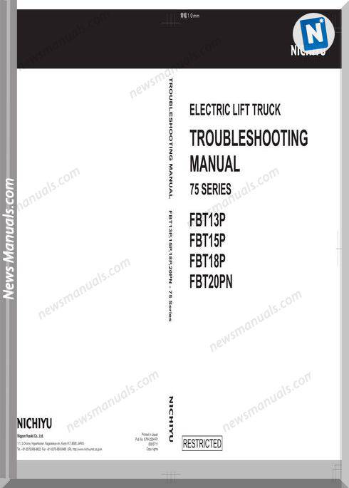 Nichiyu Forklift Fbt 75 Series Troubleshooting Manual