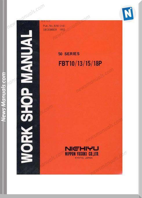 Nichiyu Forklift Fbt10 18P Sicos 50 Service Manual