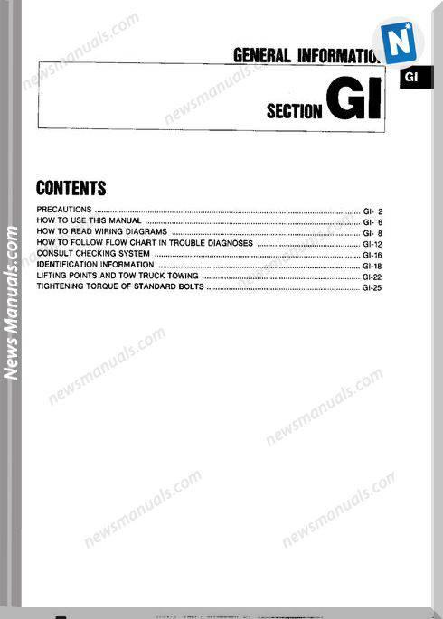 Nissan 300Zx Z32 Year 1996 Workshop Manual In English