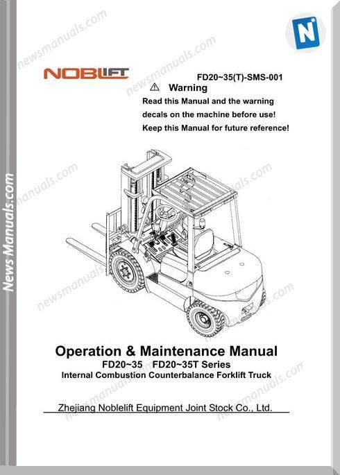 Noblift Forklift D20-35 Fd20-35T Operation Maintenance
