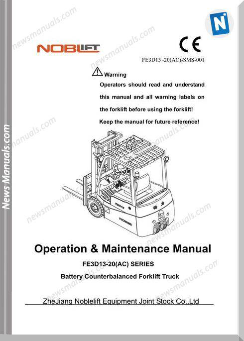Noblift Forklift Fe3D13-20Ac Operation And Maintenance