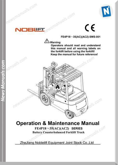 Noblift Forklift Fe4P18-35 Ac 2 Operation Maintenance