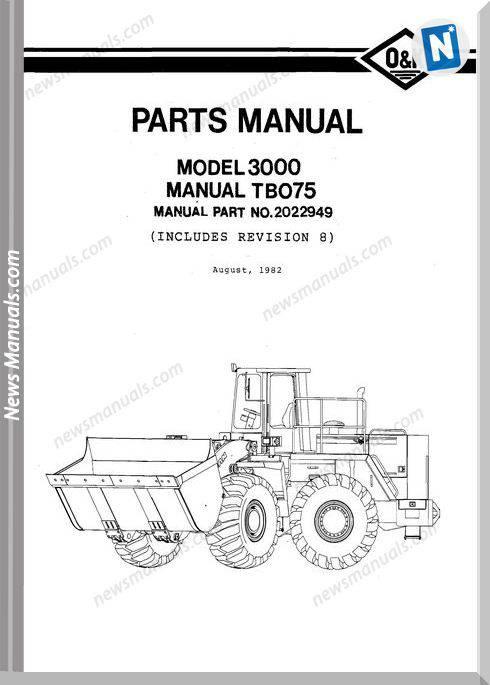 O K 3000 3 Models Part Manual