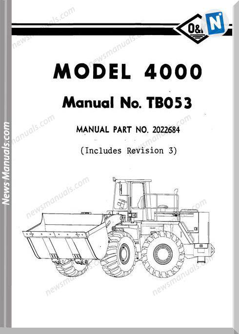 O K 4000 Models Part Manual