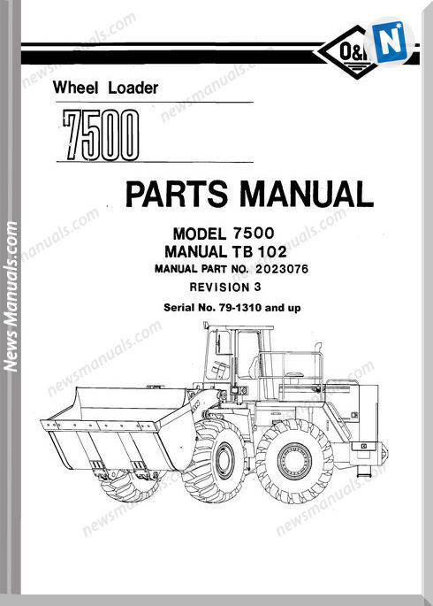 O K 7500 2 Models Part Manual