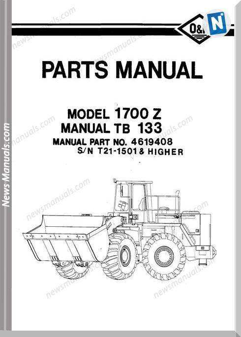 O K Model 1700Z 2 Part Manual