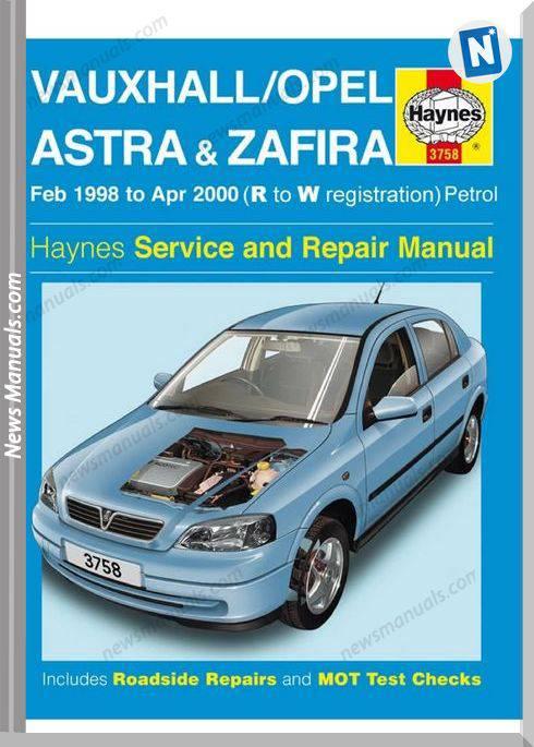 Opel Astra G Zafira Repair Manual Haynes 2003