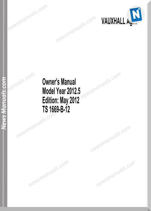 Opelvauxhall Agila 2012 Owner Manual