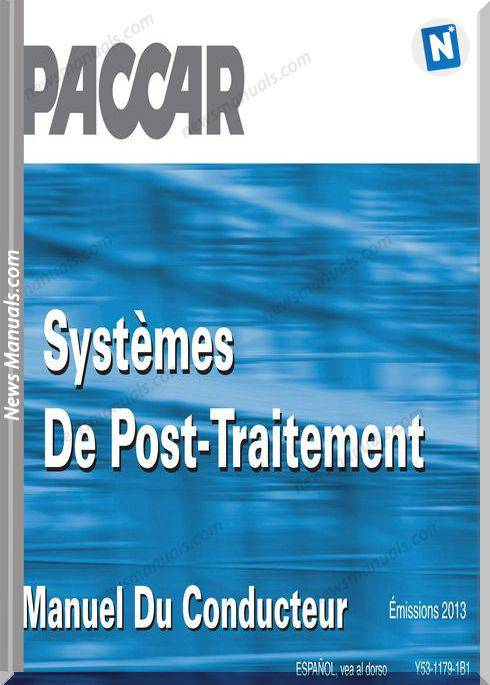 Paccar Emission Aftertreatment French Operation Manual