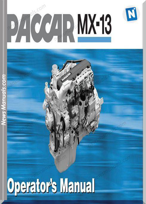 Paccar Mx-13 Engine English Language Operator Manual