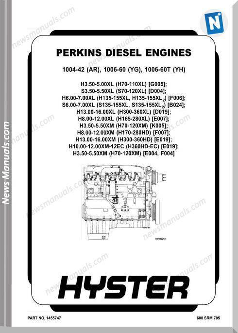 Perkins 1004-42Ar,1006-60Yg,1006-60T(Yh) Repair Manual