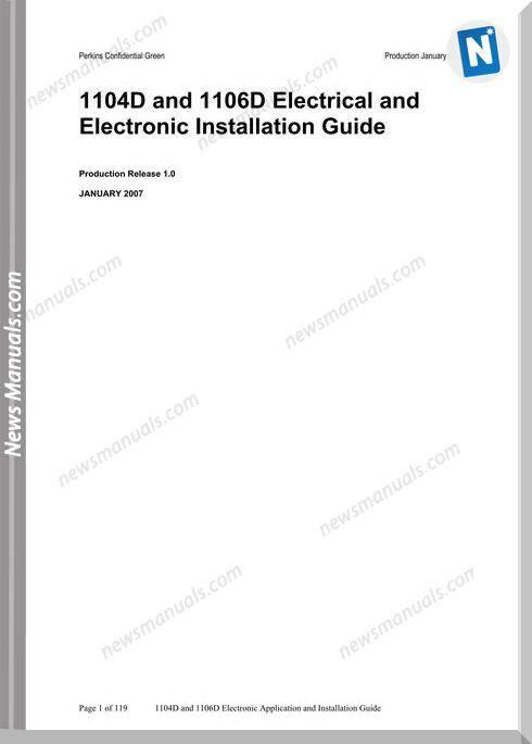 Perkins 1104D 1106D Electrical Training Manual