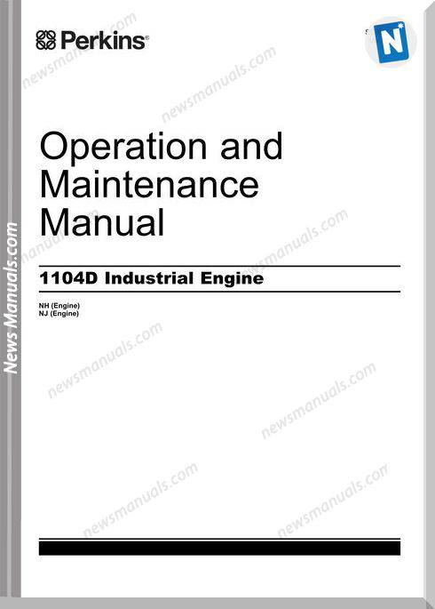 Perkins 1104D Engines Operation And Maintenance Manual
