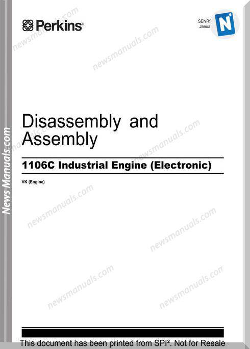 Perkins 1106C Industrial Engine Disassembly Assembly