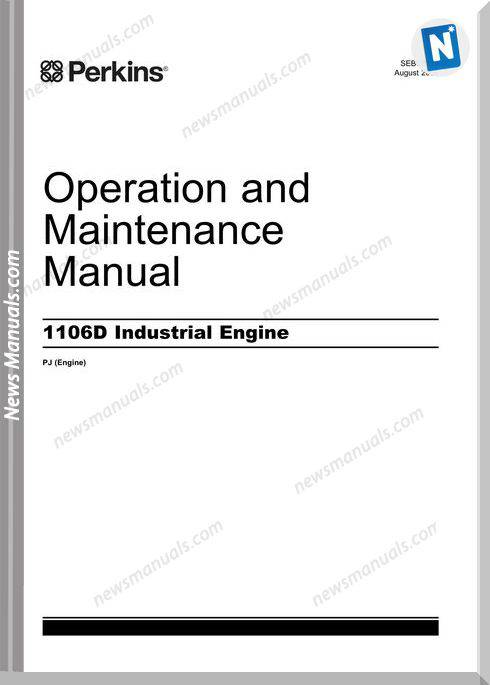 Perkins 1106D Industrial Engine Maintenance Manual