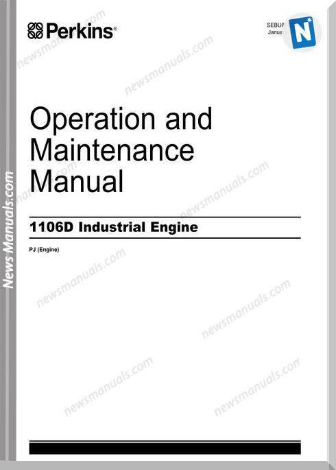 Perkins 1106D Industrial Engines Op Maintenance Manual