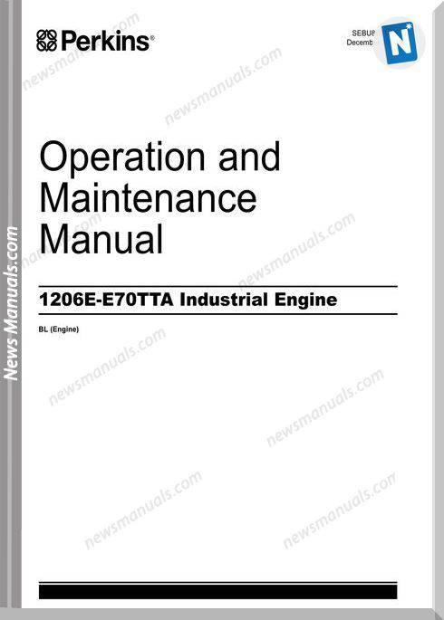 Perkins 1206E-E70Tta Engines Maintenance Manual