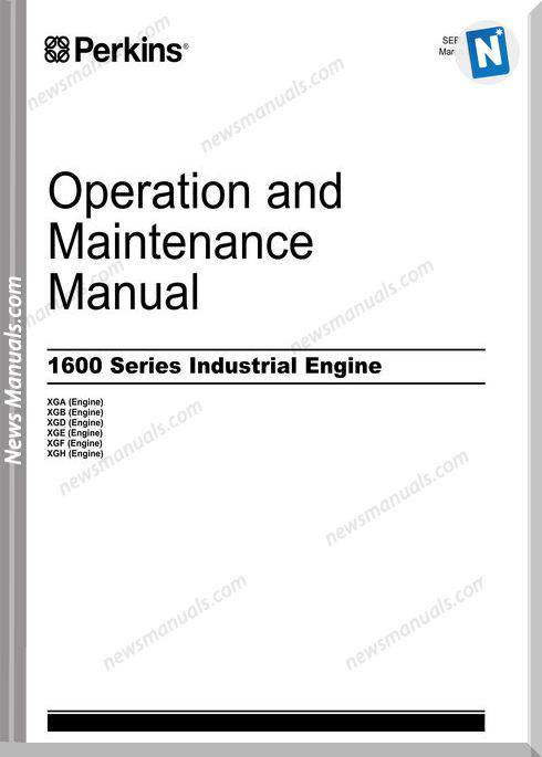 Perkins 1600 Serie Industrial Engine Maintenance Manual