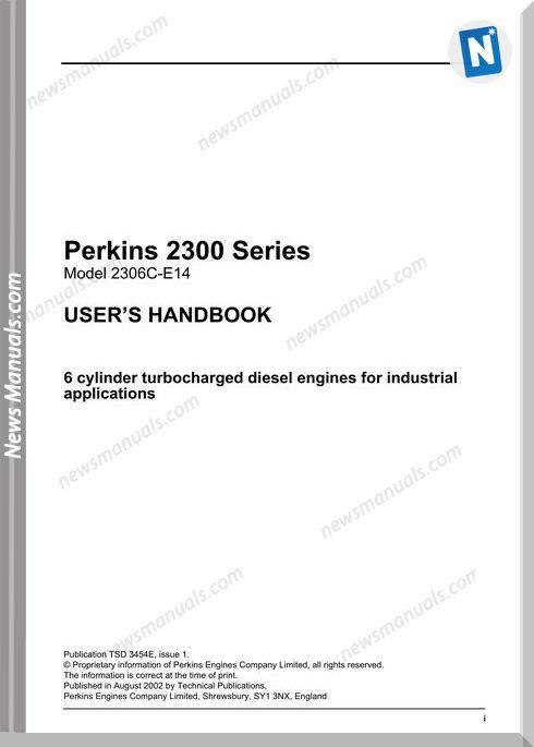 Perkins 2300 Series Models 2306C E14 User Manuals