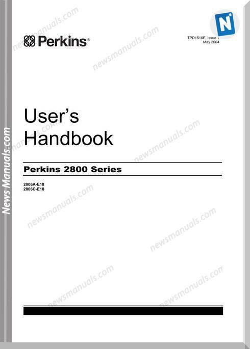 Perkins 2800 Series 2806A-C E18 User Manuals