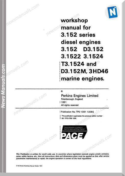 Perkins 3.152 Series Workshop Manual