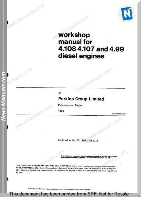 Perkins 4.108 Series Workshop Manual