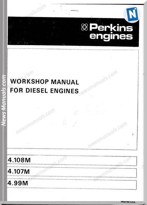 Perkins 4.108M Workshop Manual