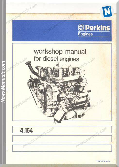 Perkins 4-154 Diesel Engine Workshop Manual