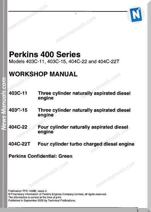 Perkins 400 Workshop Manual