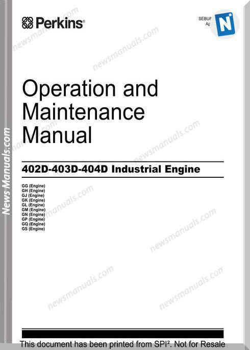 Perkins 400D Owners Manual