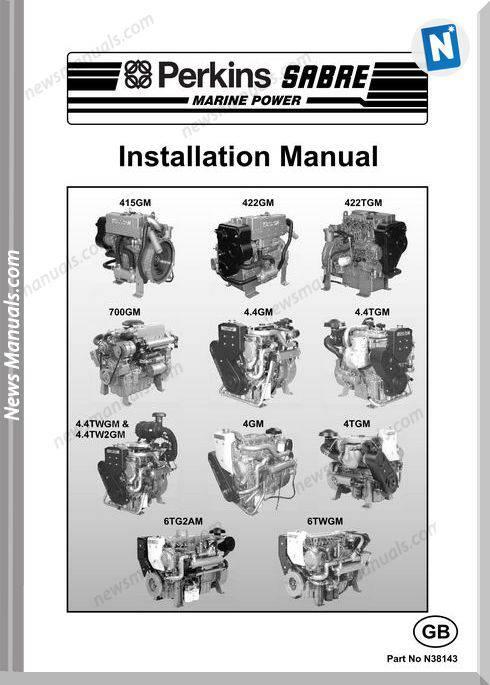 Perkins 415 422 700 4Gm 4Tgm N38143 Installation Manual