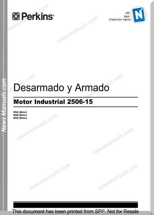 Perkins Engine Disseambly Assembly Series 2500 Spanish