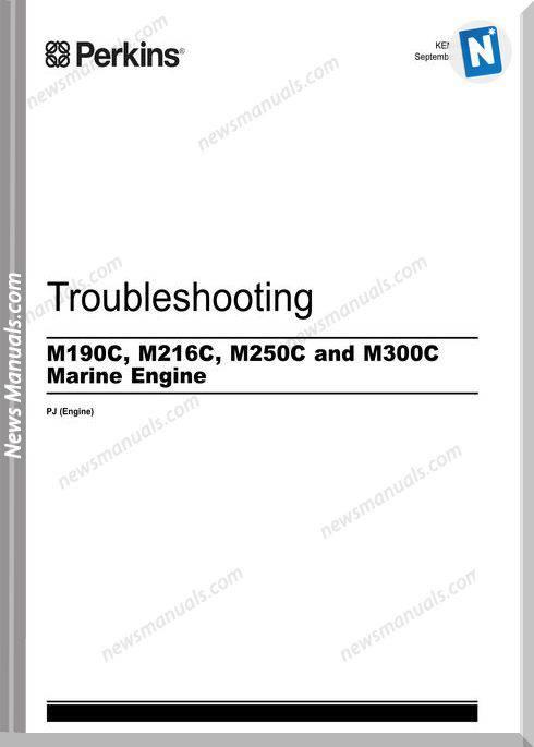 Perkins M190C,M216C,M250C M300C Troubleshooting Manuals