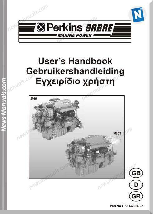 Perkins M65 M85T Engines Tpd 1379Edgr User Manuals