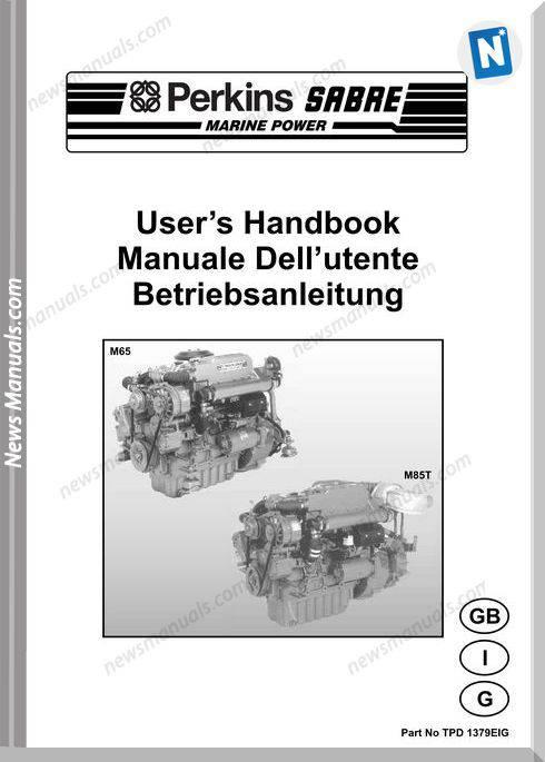 Perkins M65 M85T Models Tpd 1379Eig User Manuals