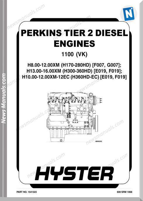 Perkins Tier 2 Diesel Engines 1100 (Vk) Repair Manual