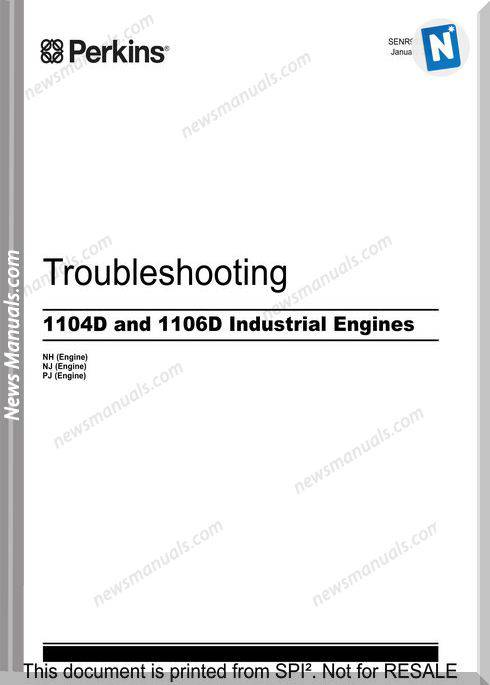 Perkins Troubleshooting 1104D 1106D Industrial Engine