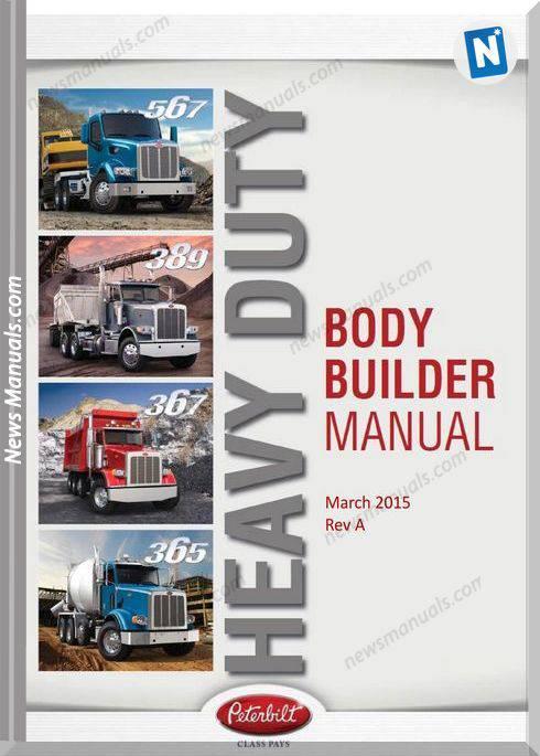 Peterbilt Body Builder 567 389 367 365 Parts Manual