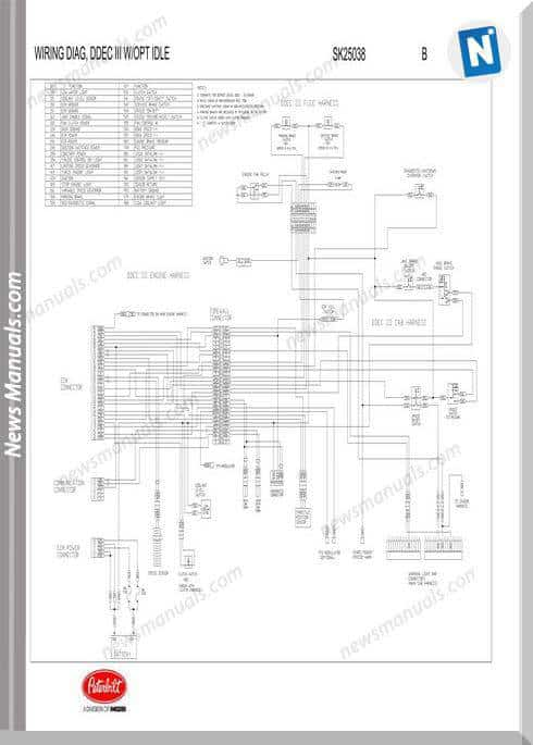 Peterbilt-Ddec Iii Wiring With Opt Idle-Sk25038